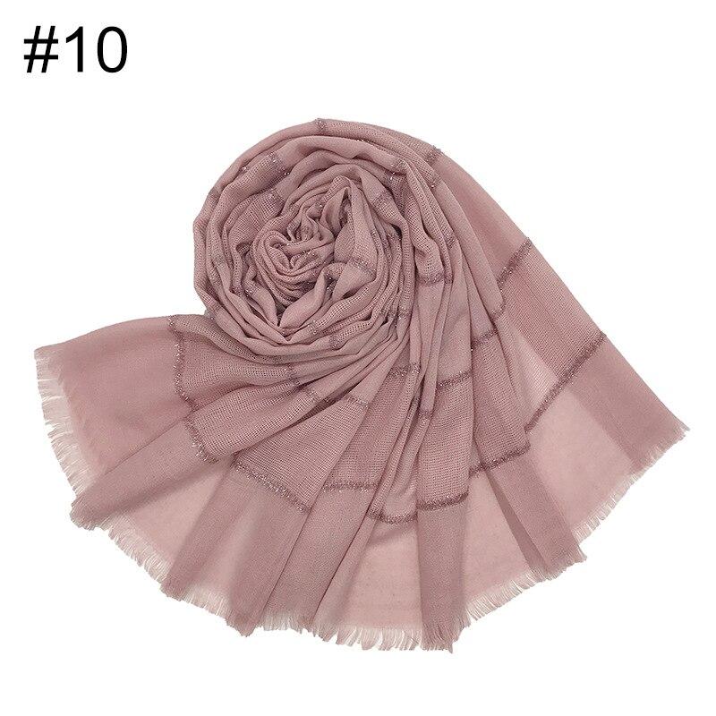 Premium Muslim Cotton Head Scarf Wrap Islamic Glitter Hijab Scarf Female Scarves Foulard Femme Musulman
