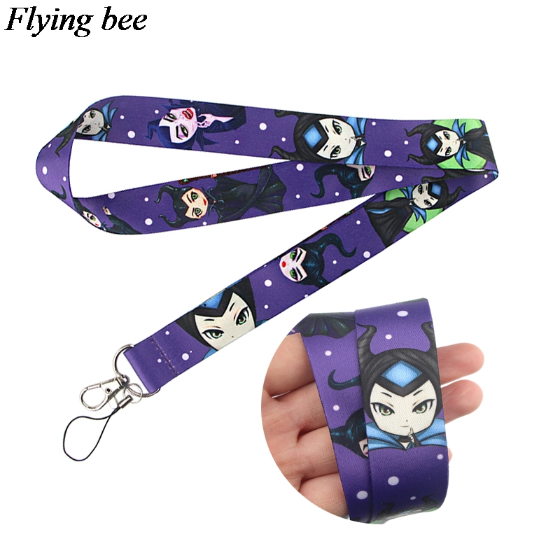 Flyingbee Evil Queen Lanyard Phone Rope Keychains Phone Lanyard For Keys ID Card Cartoon Lanyards For Men Women X0803