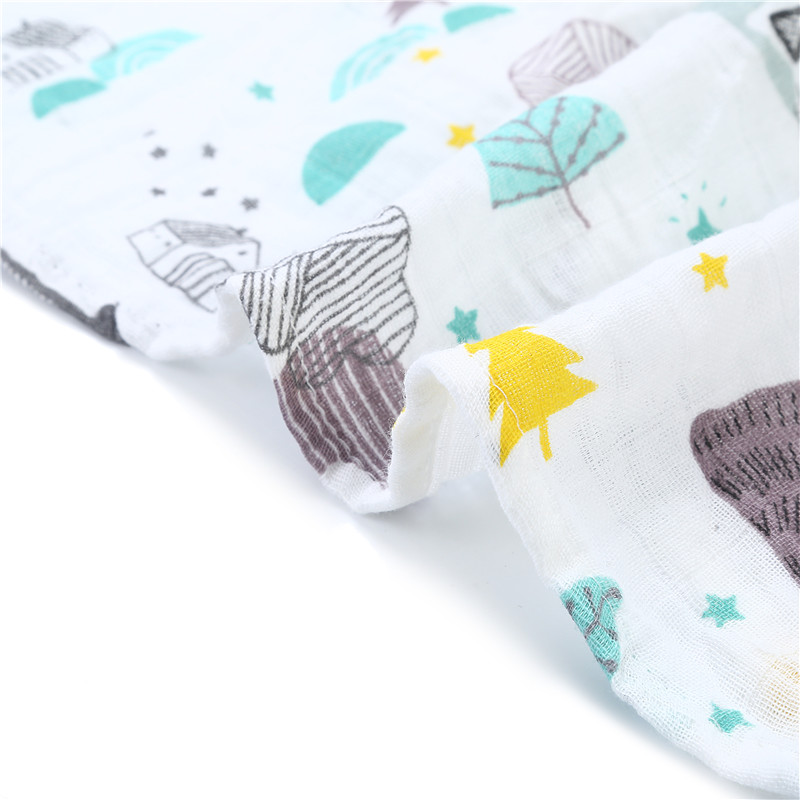 [simfamily] 1Pc Muslin 100% Cotton Baby Swaddles Soft Newborn Blankets Bath Gauze Infant Wrap sleepsack Stroller cover Play Mat 5