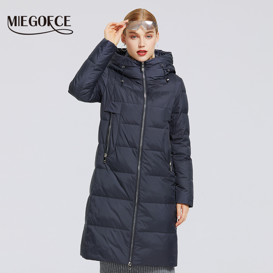 MIEGOFCE 2020 New Women's Winter Cotton Collection Windproof Jacket With Stand up Collar Fabric and Waterproof Women Parka Coat|Parkas| - AliExpress