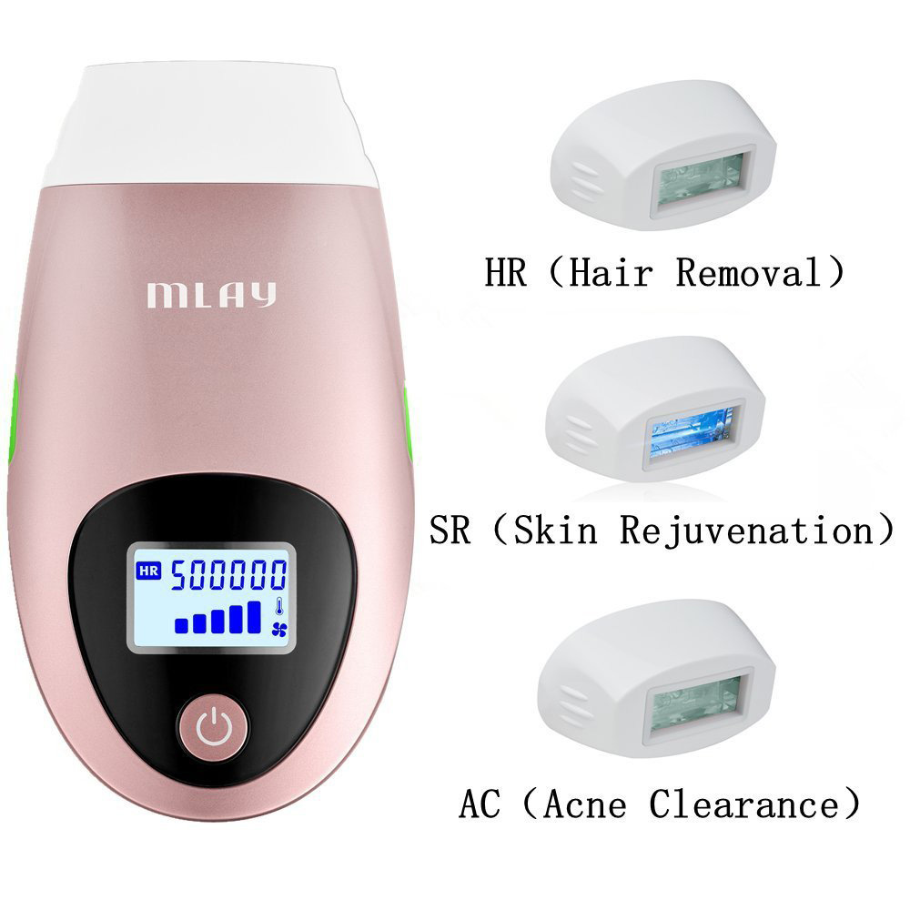 Electric IPL Laser Epilator Permanent Hair Removal+Skin Rejuvenation+Acne Clearance For Face Body For 500000 Pluses Hair Trimmer