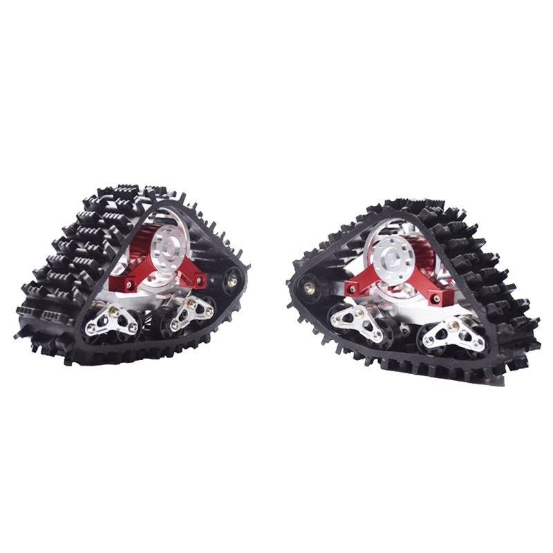 2PCS RC SCX10 Tracked Wheel Snow Tires High Quality for 1/10 RC SCX10 90018 Ghosts Upgrade Parts of The Wheeled Car Modified Sno