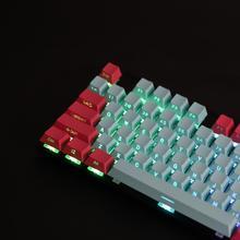 Черный, белый Майами PBT Double Shot 104 108, боковое освещение, просвечивающие полупрозрачные колпачки с подсветкой для механической клавиатуры MX