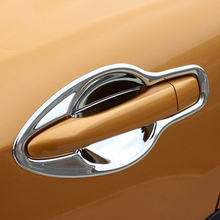 ABS Chrome For Nissan Qashqai J11 2015 2016 2017 2018 Accessories Car Exterior Door Protector Handle Bowl Cover Trim Car Styling abs chrome for ford explorer 2020 2021 car styling accessories 4pcs car door handle door protector handle bowl cover trim