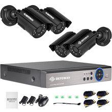 4 канальная система видеонаблюдения с разрешением 720p видеорегистратор