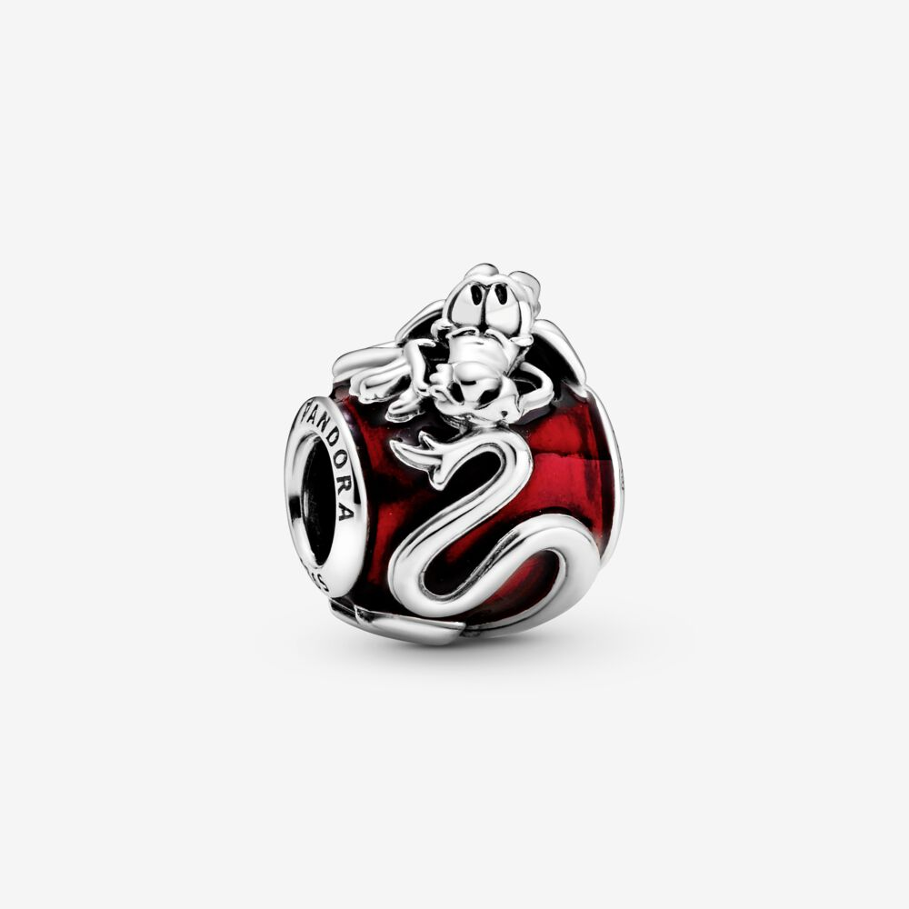 Bracelet Bead Mushu Pandora Charms 925-Sterling-Silver Jewelry Original Diy New Fit Red