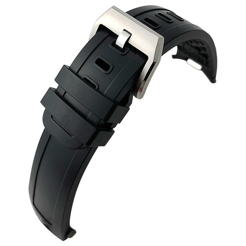 22mm kauçuk silikon saat kayışı için IWC AQUATIMER aile kordonlu saat IW356802/376705/376710/376711/376708/356801/356810/376709