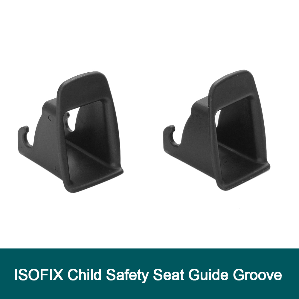 2 Pcs Car Child Seat  ISOFIX Interface Buckle Fixed Guide Groove Seat Belt Bracket Connector Car accessories