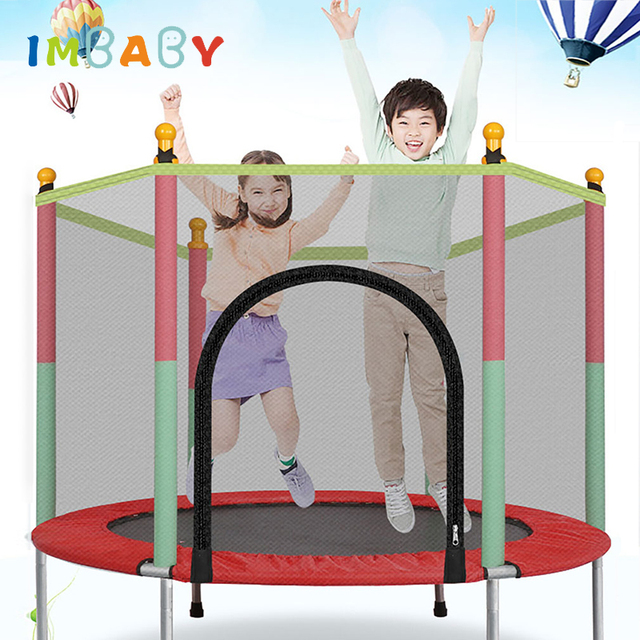 IMBABY Kinder Trampolin Kinder Türsteher Sicherheit Baby Jumper Indoor Spielplatz Mit Leitplanke Fitness Kind Erwachsene Gym Sport Workout
