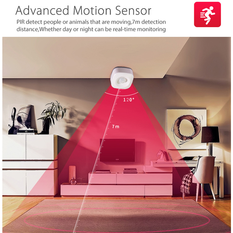 Smart Wireless PIR Motion Sensor Detector Compatible For Google Home Smart Home Alexa Echo  MU8669