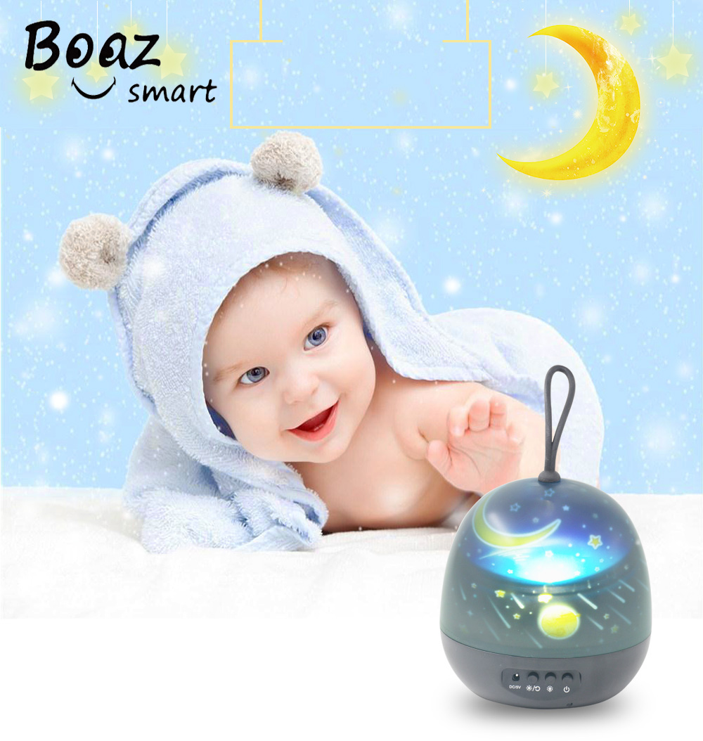 Boaz Ocean Starry Sky Rotating Projector Stars Light Christmas Holiday Lights Moon Projection Hangable Holiday Night Light
