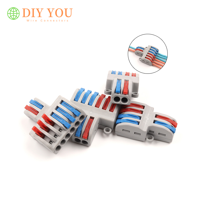 5/10 PCS SPL 62/42 Quick Splitter Plug-in Electric Multiple Wire Connector Universal Compact Wiring Connectors Terminal Block