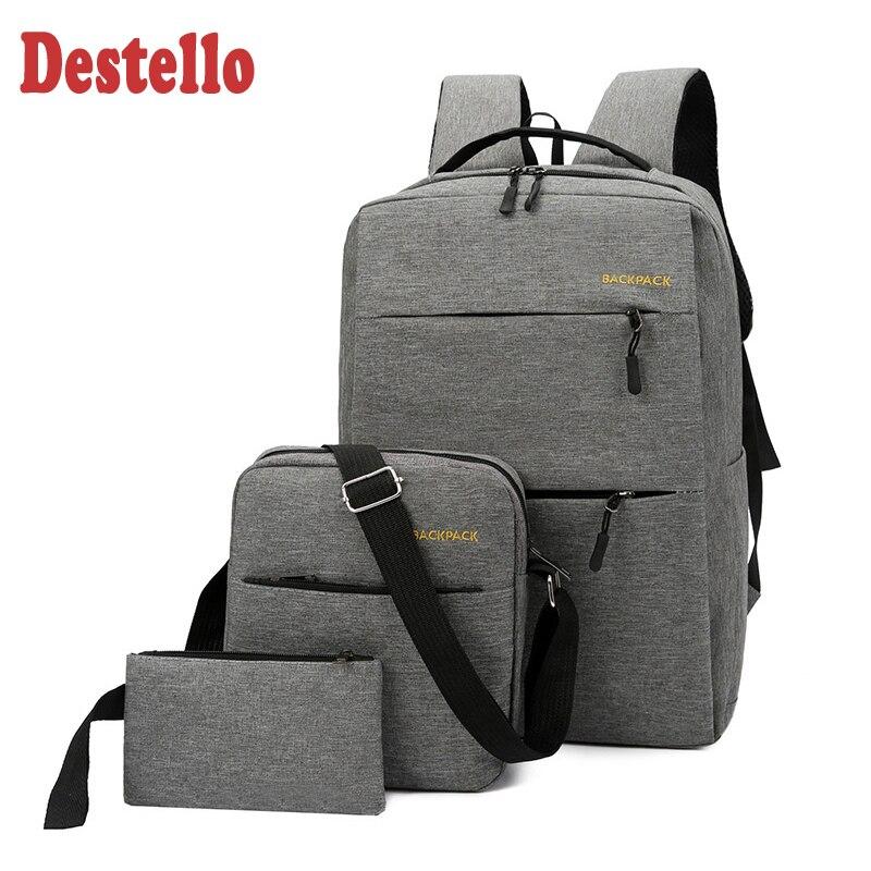Fashion Teenager Boys School Bags Laptop Travel  Bag School Backpack Usb School Studentes Bag Waterproof Kids Schoolbag Backpack