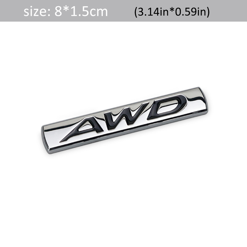 Dsycar 1Set 3D Metal 2.5 4X4-i Logo Car Side Fender Rear Trunk Emblem Badge Sticker Decals for Universal Cars Motorcycle Car Styling Decorative Accessories