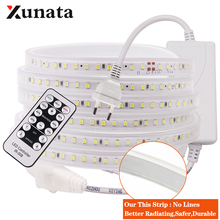Dimmable LED Strip 220V 2835 High Stable Safety Light 120Leds/m Flexible Outdoor Waterproof Led EU Plug