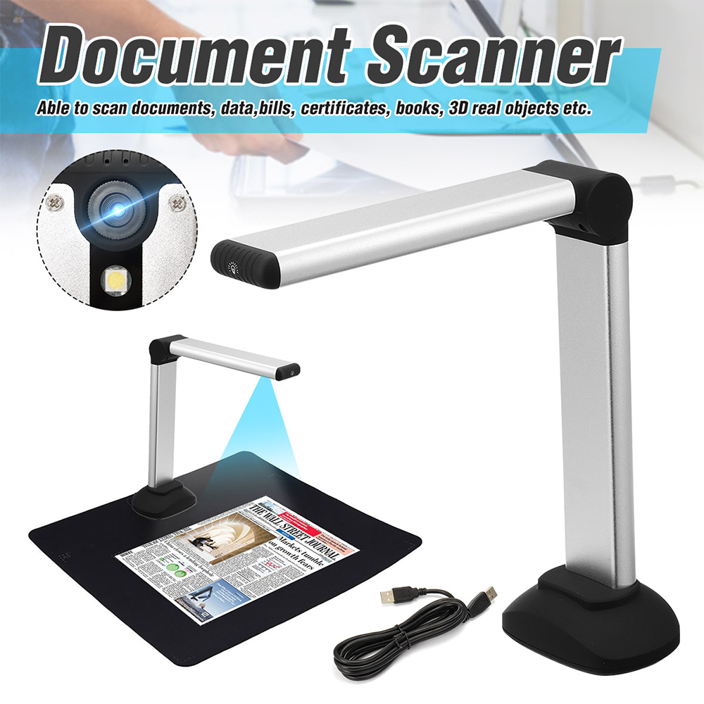 USB Book  A4 Document Camera  8.0MP High Speed Camera  With LED Light  HD High-Definition
