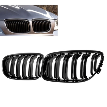 1 Pair Car Front Grille Gloss Black Inlet Grille for BMW E90 LCI 3-Series Sedan/Wagon 2009 - 2011 image