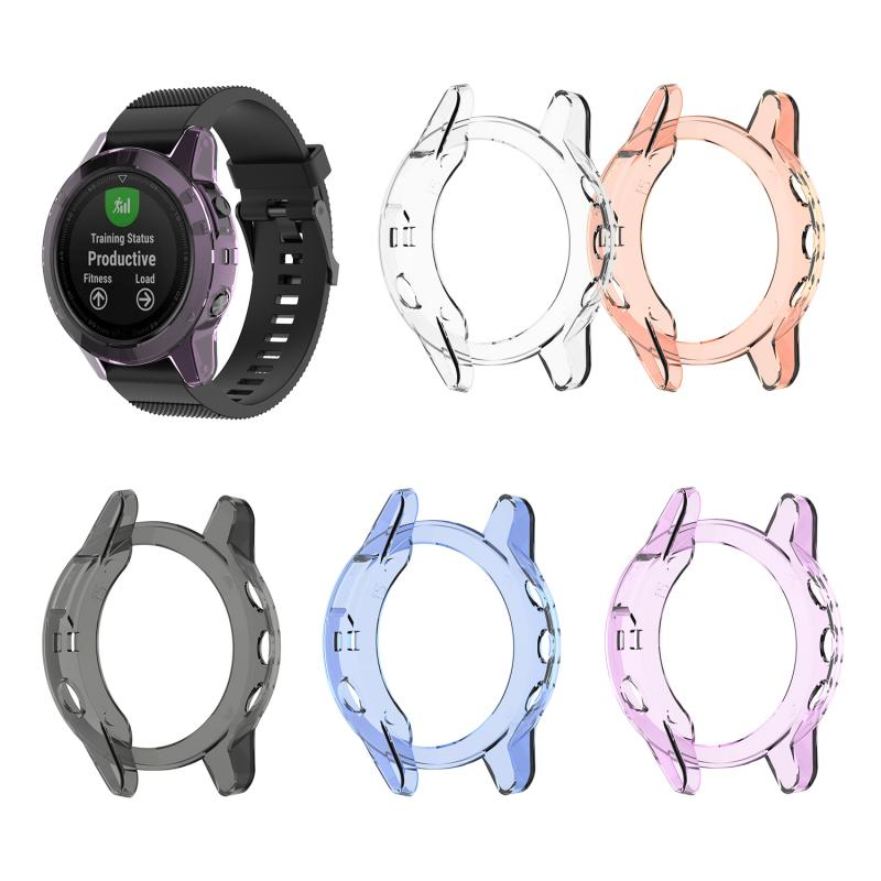 5 Colors Watch Case Frame For Garmin Fenix 5 Plus Smart Watch Shell Cover Protector TPU Rubber Case For Garmin Fenix5 5 Plus
