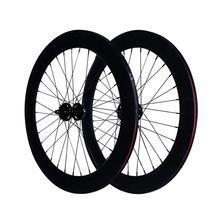 , Aby śledzić ostre koło flip-flop felgi 70mm przód 24H tylne 32H piasta rower jednobiegowy zestaw do kół rama rowerowa ze stopu aluminium ze stopu aluminium