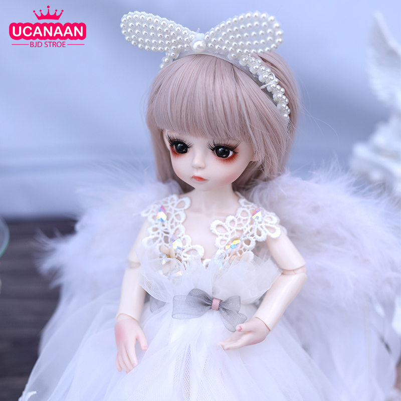 30CM BJD Doll 1/6 Ball Joint Dolls With Full Outfits BJD Clothes Dress Set Wig Shoes Headdress Makeup Changeable Eyes Girls Doll