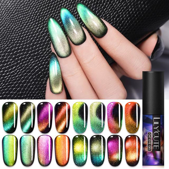 LILYCUTE 9D Auroras Magnetic Gel Nail Polish