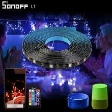 SONOFF L1 akıllı Wifi Led ışık şeridi Dimmer su geçirmez RGB uzaktan kumanda Alexa Google ev için noel dekorasyon açık