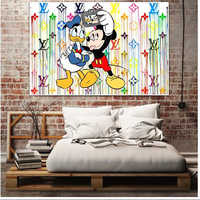 Wall Art Pictures HD Prints Nordic Poster Cartoon Mickey Mouse Doodle Home Decoration Canvas Paintings Frame Modular Living Room