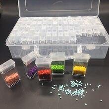 64 Bottles Diamond Painting Tools AccessoriesManicur Storage Box Beads Diamond Embroidery Stone Mosaic Convenience Box