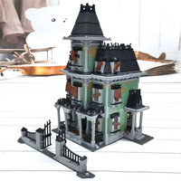 16007 Movie Monster Fighter The Haunted Soul House Model Building Block Kits Brick Toys 2141Pcs Compatible with 10228