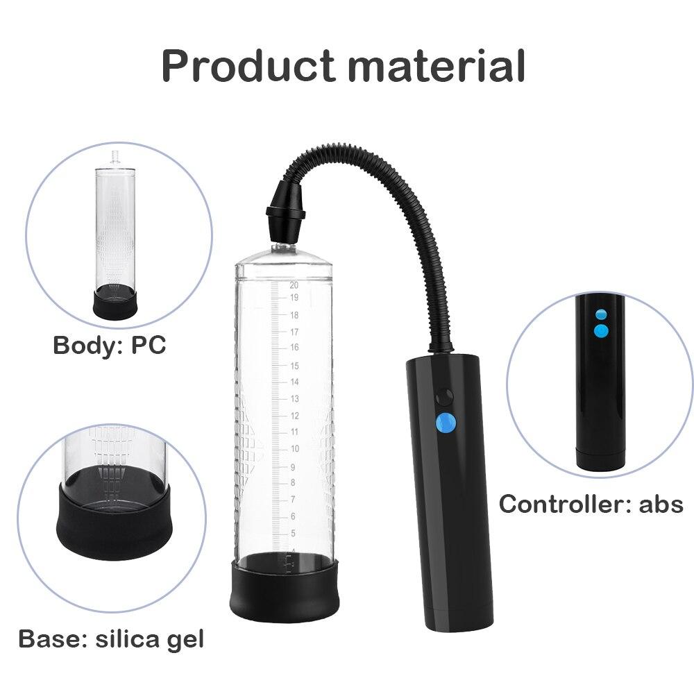 Pompe à pénis à vide puissant agrandisseur de pénis agrandisseur de pénis USB Rechargeable automatique pompe à pénis jouets sexuels pour hommes 4