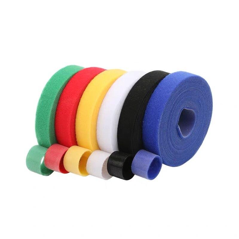 Пластиковые нейлоновые зажимы для кабелей 1 см * 5 м, наматыватель для кабелей, зажимы для галстуков, застежка-липучка, ленты, зажимы для прово...