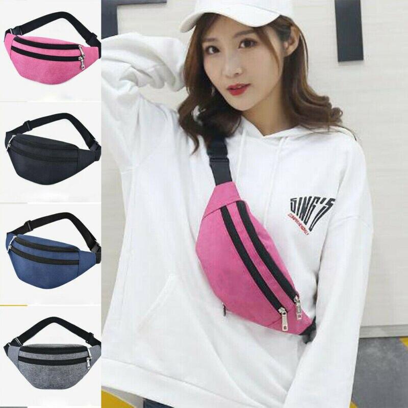 2019 Fashion Unisex Waist Bags Men Women Waist Fanny Pack Sport Travel Belt Zipper Waist Pouch Crossbody Bag Outdoor Chest Bag