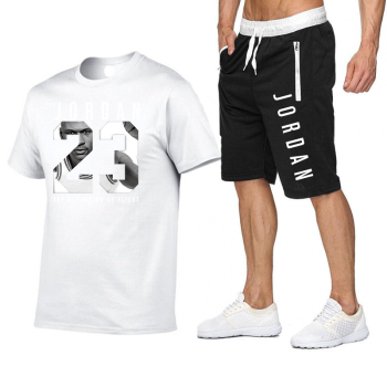 Summer Men And Women Fashion Trend Jordan 23 Suit Casual Sports Short-sleeved T-shirt + Sports Shorts Running Sports Suit