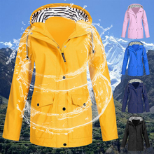 Windproof Hoodies Jacket Women Outdoors Coats And Jackets Solid Hoody Outwear Fashion Chaqueta Mujer Sportwear Plus Size