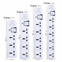 Multiprise électrique rechargeable ca 3 4 5 6 prises US ue royaume-uni AU CN prise d'extension prise réseau filtre 10A 250V 2000W