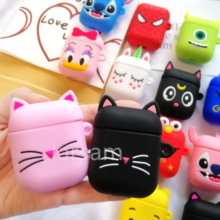 Cartoon Soft Silicone Case For Apple Airpods Shockproof Cover For Apple AirPods Earphone Cases for Air Pods Protector Case 3d lucky rat cartoon bluetooth earphone case for airpods pro cute accessories protective cover for apple air pods 3 silicone