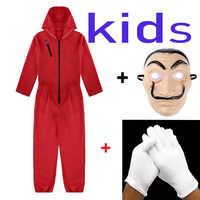 Criança salvador dali filme a casa de papel la casa de papel cosplay festa halloween máscara dinheiro roubo traje & máscara facial