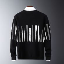 Sweaters Men Outwear Pullovers Streetwear-Coats Slim-Fit Neck-Knitted Harajuku Christmas