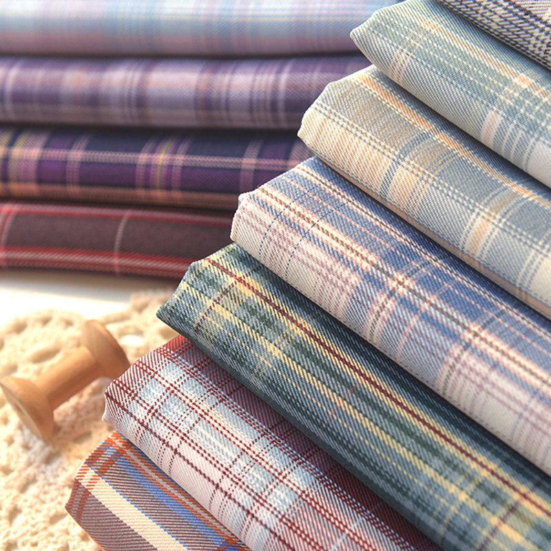 145x50cm A Little Thick Plaid Polyester Ripstop Fabric Making Jacket Pleated Short Skirt Dress Cloth 280g/m