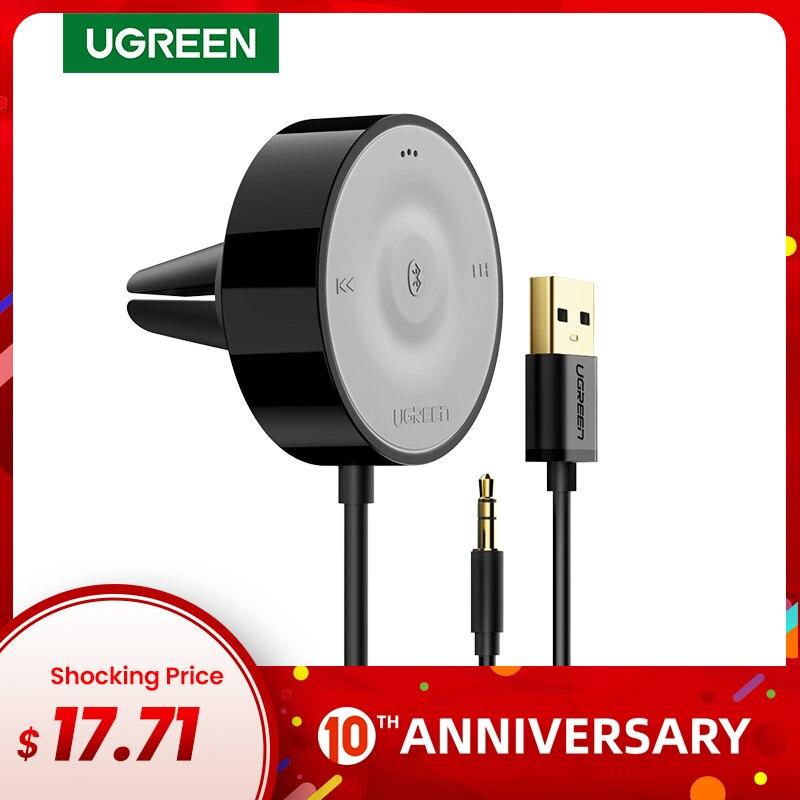 UGREEN Bluetooth 5,0 Kit De Receptor De Coche AptX LL Adaptador Inalámbrico 3,5 AUX Para Altavoz De Coche USB Bluetooth 3,5mm Jack Receptor De Audio