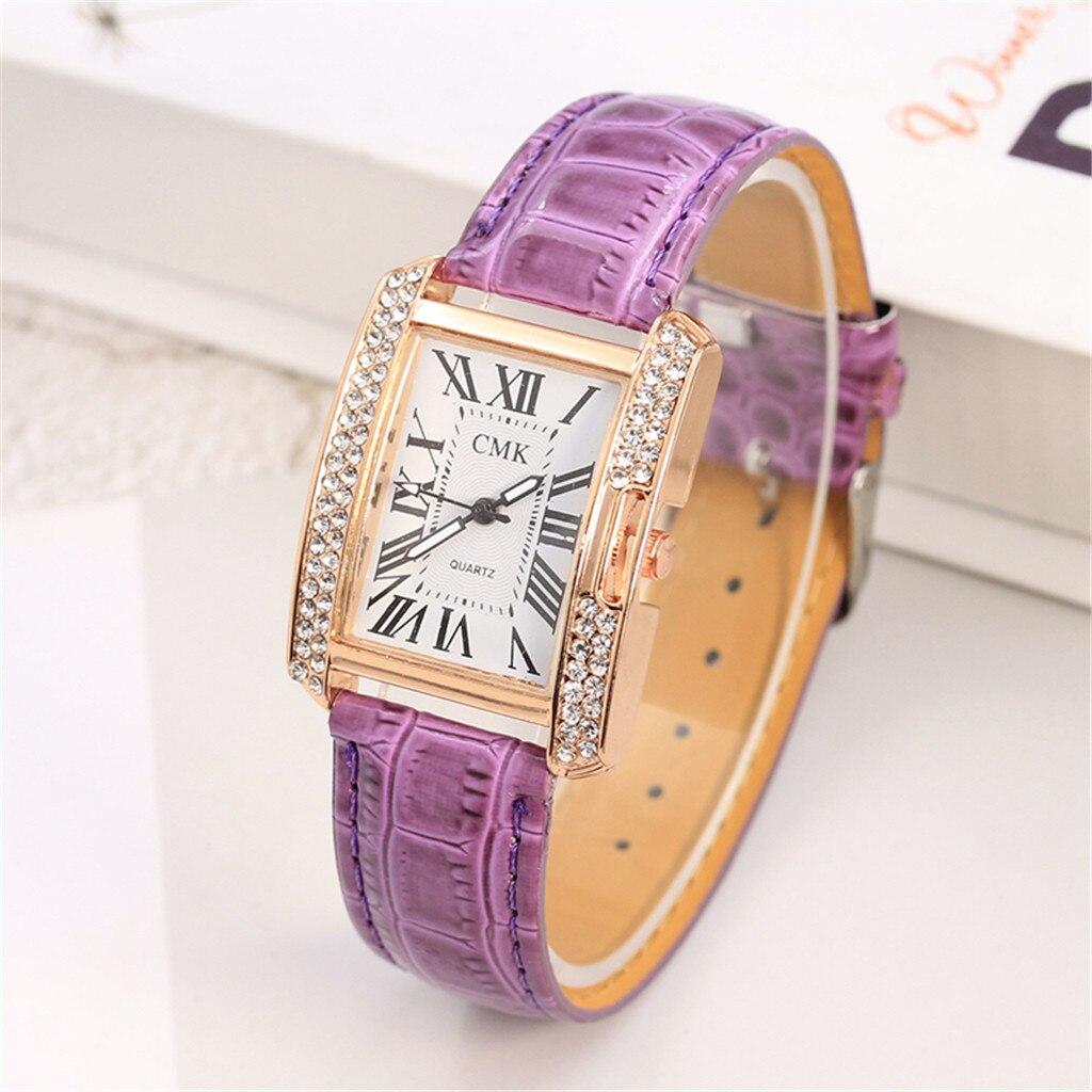Ladies Waches 2019 Leather Belt Analog Quartz Square Korean Rhinestone Relojes Para Mujer Zegarki Damskie Relogios Femininos