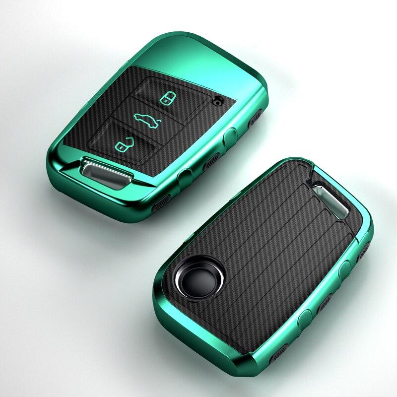 TPU Car Key Smart Remote Cover Full Case Holder For Volkswagen Golf Skoda Superb Magotan Passat B8 A7 2016 2017 2018 Accessories