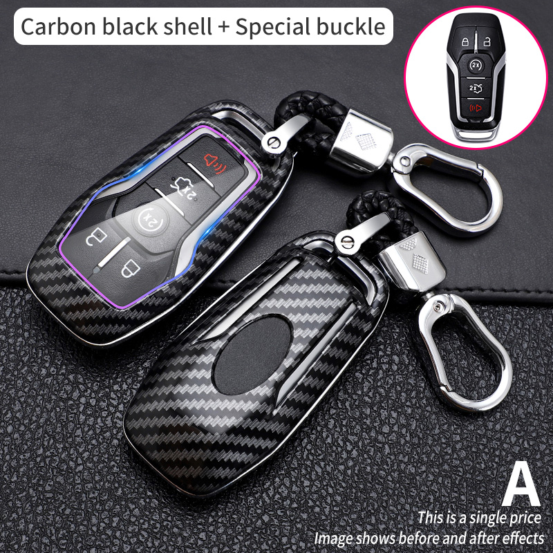 2019 Key Cover Case For Ford Fusion Mondeo Mustang F-150 Explorer Edge 2015 2016 2017 2018 Car Styling Key Protection Keychain