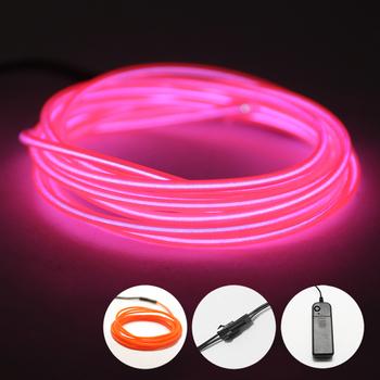 El Led Neon RGB drut pod samochodem elastyczna miękka rurka światła świąteczne taśmy LED znak Anime ciało kobieta pokoje sznur oświetleniowy lampa neonowa tanie i dobre opinie KIQUNE CN (pochodzenie) 8000 Żarówki neonowe Indoor 1000K 85-265 v FG2140 The neon lights