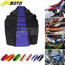 YZ450F Motocross Custom Ribbed Seat Cover Gripper Traction Seat Pad for KTM Suzuki Honda Kawasaki EXC XCF RM XR CRF 125 250 450 motorcycle rubber gripper soft seat cover for kawasaki kx85 kx100 01 02 03 04 05 06 07 08 09 10 11 12 13 14 15 16 2001 2016