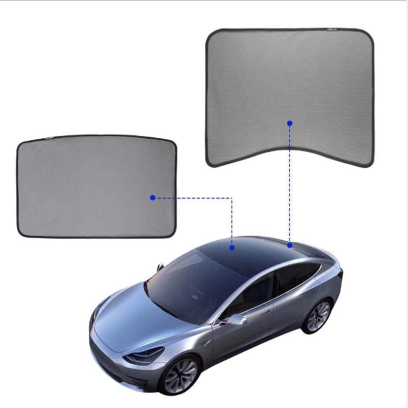 Voor Tesla Model 3 Auto Zonnescherm Glas Dak Zonnescherm Auto Dakraam Blind Shading Netto Uv bescherming Gordijn Mesh