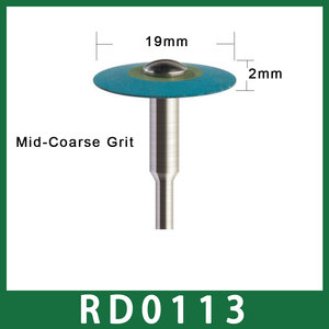 Image 3 - Size 19mm X 2mm Dental Laboratory Rubber Diamond Polisher 2.35mm for Low Speed Handpiece