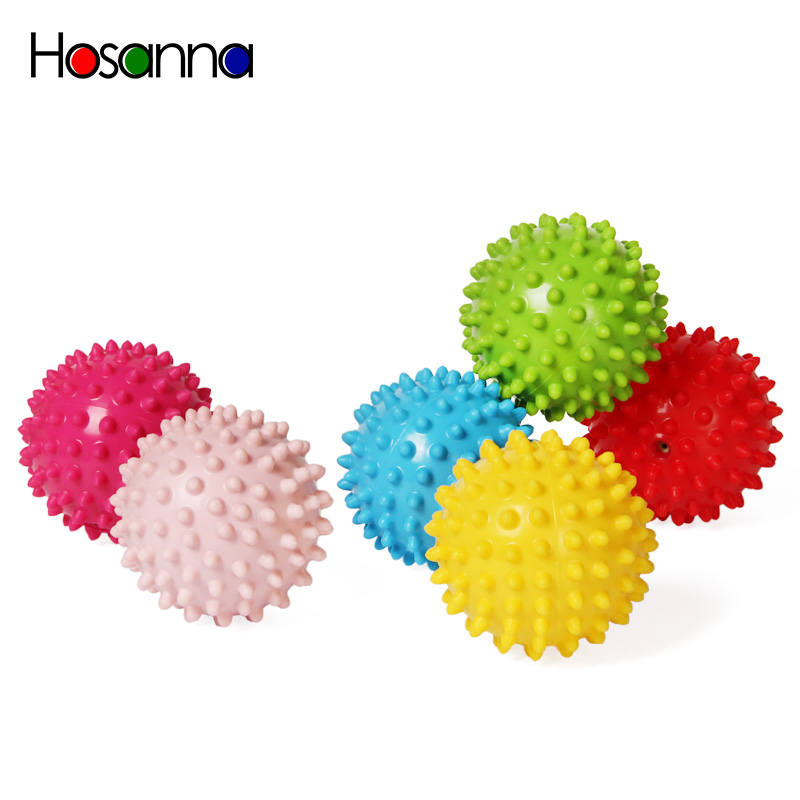 Baby Soft Sensory Toy Balls Squeeze Bouncing Fidget Development Educational Inflatable Rubber Toys for Children Infant Game Gift(China)