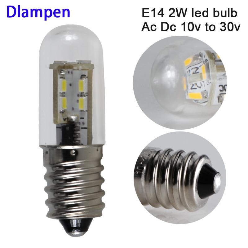 6pcs lampadine levou e14 lâmpada luz Ac Dc volt 24 12 2W mini corn Substituir 30 Candelabros de luz W Luzes de Halogéneo 12v 24 v casa lâmpada