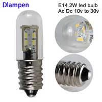6 stücke lampadine led e14 lampe licht Ac Dc 12 24 volt 2W mini mais licht Leuchter Ersetzen 30W Halogen Lichter 12v 24 v hause lampe